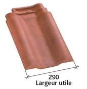 Tuile double à bourrelet PANNE H2 HUGUENOT coloris rouge - Contreplaqué rainuré 2 faces tout Okoumé CTBX ép.15mm larg.1,491mm long.3,10m - Gedimat.fr