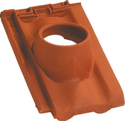Tuile à douille PROVINCIALE diam.120mm coloris rouge - Poutre VULCAIN section 20x60 cm long.5,00m pour portée utile de 4,1 à 4,60m - Gedimat.fr