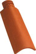 Demi-tuile OMEGA 13 coloris rouge nuance - Rive individuelle droite à emboîtement OMEGA 13 coloris rouge nuance - Gedimat.fr