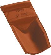Closoir de faitière casson OMEGA 13 coloris rouge nuance - Bloc béton de chaînage vertical B40 ép.20cm haut.20cm long.50cm - Gedimat.fr