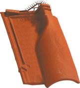 Tuile de ventilation OMEGA 13 + grille coloris rouge nuance - Flexible Butane Propane en caoutchouc armé long.1,5 m - Gedimat.fr