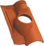 Tuile à douille OMEGA 13 diam.120mm coloris rouge - Poutre en béton PM5 larg.15cm long.5,00m - Gedimat.fr