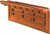 Rive individuelle gauche à emboîtement OMEGA 13 coloris rouge nuance - Tuile en terre cuite CANAL 40 et POSIFIX 40 coloris brun rustique - Gedimat.fr