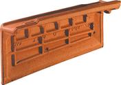 Rive individuelle droite à emboîtement OMEGA 13 coloris rouge - Tuile en terre cuite CANAL 40 et POSIFIX 40 coloris brun rustique - Gedimat.fr
