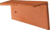 Rive individuelle droite pour tuile Plate 16x24 Phalempin coloris ambre - Tuile PLATE PRESSEE 27x41 JACOB coloris terre de Beauce - Gedimat.fr