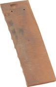 Demi-tuile PLATE PRESSEE 27x41 coloris rouge ancien - Mamelon laiton brut réduit 246 femelle diam.26x34mm mâle diam.20x27mm 1 pièce - Gedimat.fr