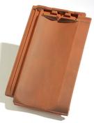 Tuile H13 coloris flammé rustique - Rive individuelle gauche à recouvrement grand modèle coloris vieilli masse - Gedimat.fr