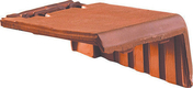 Rive à rabat droite à emboîtement VALOISE coloris flammé rustique - Briquettes en grès cérame émaillé LONDON BRICK larg.6cm long,25cm coloris brown - Gedimat.fr
