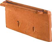 Rive individuelle droite à emboîtement MONOPOLE 1 coloris amarante rustique - Chassis soufflet PVC blanc CALINA haut.60cm larg.1,00m vitrage 4/16/4 basse émissivité - Gedimat.fr