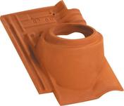Tuile à douille MONOPOLE 3 diam.100mm coloris amarante rustique - Tuile courte d'égout et de faîtage ou Doublis 17 coloris rustique foncé - Gedimat.fr