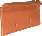 Rive individuelle gauche à recouvrement MONOPOLE 3 coloris amarante rustique - Tuile courte d'égout et de faîtage ou Doublis 17 coloris rustique foncé - Gedimat.fr