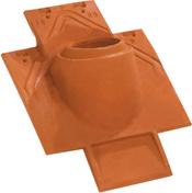 Tuile à douille PLATE 17x27 Phalempin diam.100mm coloris ambre - Poutre VULCAIN section 20x40 cm long.3,50m pour portée utile de 2,6 à 3,10m - Gedimat.fr