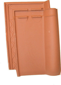 Demi-tuile ARTOISE coloris rouge - Porte fenêtre PVC blanc CALINA 2 vantaux crémone haut.2,15m larg.1,20m vitrage 4/16/4 basse émissivité - Gedimat.fr