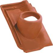 Tuile à douille PANNE H2 HUGUENOT diam.120mm coloris rouge - Enduit monocouche lourd grain fin MONODECOR GT sac de 30kg coloris R164 - Gedimat.fr
