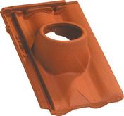 Tuile à douille DELTA 10 diam.120mm coloris rouge - Coude laiton égal pour tuyau polyéthylène diam.20 - Gedimat.fr