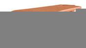 1/4 rive à rabat droite DOUBLE HP20 coloris ardoise - Rive ronde individuelle gauche à emboîtement 2/3 pureau PLEIN SUD/MEDIANE coloris terroir - Gedimat.fr