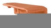 1/4 rive à rabat gauche DOUBLE HP20 coloris ardoise - Rive ronde individuelle gauche à emboîtement 2/3 pureau PLEIN SUD/MEDIANE coloris terroir - Gedimat.fr