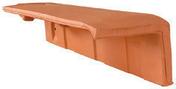 Demi-tuile de rive à rabat droite HP10 HUGUENOT coloris ardoise - About de faîtière conique de 40 fin coloris rouge - Gedimat.fr