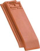 Demi-tuile HP13 HUGUENOT coloris ardoise - Rive rabat sous faitière gauche à emboîtement 2/3 pureau MEDIANE coloris tradition - Gedimat.fr