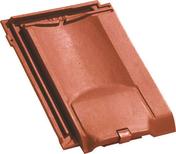 Tuile de ventilation JURA 10 + grille coloris rouge ancien - Tuile à douille CANAL MIDI diam.100mm coloris paille - Gedimat.fr