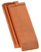 Quart de tuile DOUBLE HP20 coloris terre de Beauce - Tuile à douille FRANCHE-COMTE diam.150mm coloris brun vieilli nouveau - Gedimat.fr