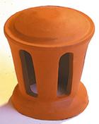 Lanterne petit modèle conique diam.100mm coloris rouge - Chevêtre ULYSSE mur section 15x16 cm long.1.80m - Gedimat.fr