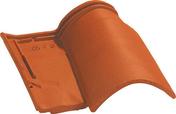 Tuile 1/2 pureau OMEGA 10 coloris vieux toits - Kit profilés latéraux traverse basse UK08 - Gedimat.fr