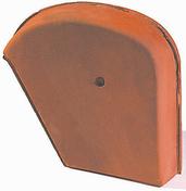Fronton droit pour faitière Shed coloris flammé rustique - Faîtière/Arêtier angulaire à emboîtement coloris flammé rustique - Gedimat.fr
