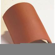 Faîtière 1/2 ronde sans emboîtement coloris Chevreuse - Demi-tuile PLATE PRESSEE 17x27 coloris rouge nuance - Gedimat.fr