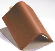 Faîtière angulaire 16x27 sans emboîtement coloris rustique - Brique terre cuite base POROTHERM R50 ép.50cm haut.24,9cm long.25cm - Gedimat.fr