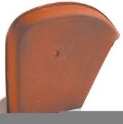 Fronton gauche pour faitière Shed coloris ardoise - Tuile en terre cuite CANAL 40 et POSIFIX 40 coloris silvacane littoral - Gedimat.fr