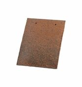 Tuile PLATE 16x24 DOYET coloris rustique - Tuile à douille pour tuile Plate 16x24 Phalempin diam.100mm coloris ambre - Gedimat.fr