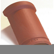Faîtière/Arêtier 1/2 rond à emboîtement petit modèle coloris rouge ancien - Enduit de parement minéral manuel épais à la chaux aérienne WEBER.CAL PF sac 25 kg Rose brun teinte 320 - Gedimat.fr