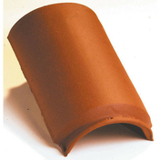 Faîtière/Arêtier lisse à emboîtement coloris rouge nuance - Bloc de béton cellulaire d'angle ép.20cm long.60cm haut.25cm - Gedimat.fr