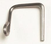 Crochet F6 faitière 1/2 ronde petit modèle à emboîtement - Tuiles et Accessoires - Couverture & Bardage - GEDIMAT