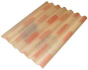 Plaque ondulée 5 ondes en fibres-ciment PLAKFORT 5 RURALCO long.2,50m larg.0,918m coloris Terremidi - Plaques de couverture - Couverture & Bardage - GEDIMAT