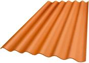 Plaque ondulée 6 ondes en fibres-ciment PLAKFORT 6 COLORPLUS long.1,25m larg.1,095m coloris ocre - Gedimat.fr