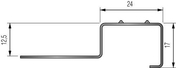 Nez de marche pose encastré pour carrelage en inox Long.2,50m haut.12,5mm - Accessoires pose de carrelages - Revêtement Sols & Murs - GEDIMAT