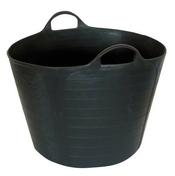 Auge de maçon forme cabas caoutchouc PROCHOK - 40l - Truelle d'angle intérieur inox manche bois long.12cm - Gedimat.fr