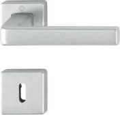 Ensemble de poignées de porte DUBLIN sur rosace aluminium finition chromé satiné avec trou de clé - Contreplaqué tout Okoumé OKOUPLAK ép.19mm larg.1,53m long.2,50m - Gedimat.fr