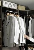 Penderie basculante pour colonnes larg.1m - Porte-cravates ou porte-ceintures coulissant pour aménagement de dressing - Gedimat.fr
