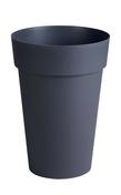 Pot TOSCANE rond diam.46cm haut.65cm 67L gris - Carrelage pour sol en grès cérame pleine masse KOSHI dim.45x45cm coloris ciment - Gedimat.fr
