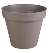 Pot TOSCANE rond diam.80cm haut.66cm 192L taupe - Jardinières - Poteries - Plein air & Loisirs - GEDIMAT