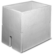 Abri compteur d'eau béton dim.int.65x45cm haut.65cm - Poubelle ronde 13L acier laqué blanc - Gedimat.fr