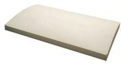 Couvertine béton arrondie ép.5cm larg.30cm long.50cm ton pierre - Polystyrène expansé Knauf Therm TTI Th36 SE BA ép.140mm long.1,20m larg.1,00m - Gedimat.fr