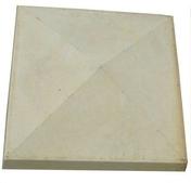 Chapeau de pilier 4 PENTES ép.8cm 32x32cm ton pierre - Flexible simple agrafage laiton 1,50m - Gedimat.fr