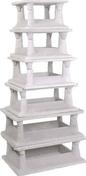 Chapeau de cheminée béton ASP VENTYL int.25x25cm ext.49x49cm - Tuile H13 coloris rouge - Gedimat.fr