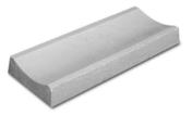 Caniveau béton concave CANYBO V ép.7,5cm larg.30cm long.75cm - Caniveau en pierre reconstituée INSTONE d'about dim.30x30cm ép.5cm miel clair - Gedimat.fr