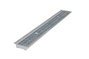 Grille caillebotis acier DRAINECO 100 ép.3cm larg.14,5cm long.1m pour caniveau DRAINECO 100 - Contre écrou à plateau pour raccord à visser 15x21 - Gedimat.fr