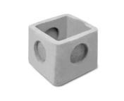 Regard béton RM20 ALLEGE sans emboîtement int.20x20x16cm ext.26x26x19,5 - Semelle de fondation plate S25 larg.25cm 3 aciers HA8 long 6m - Gedimat.fr